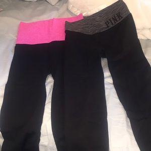 PINK Victoria's Secret cropped leggings bundle